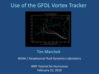 Use of the GFDL Vortex Tracker
