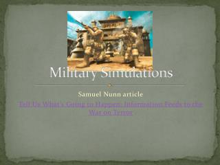 Military Simulations