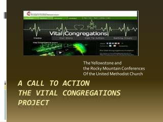 A  CALL TO ACTION  THE  VITAL CONGREGATIONS PROJECT