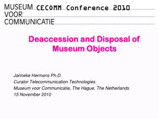 CECOMM Conference 2010