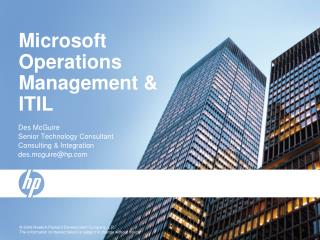 Microsoft Operations Management & ITIL