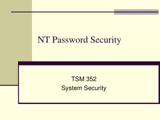 NT Password Security