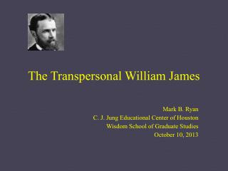 The Transpersonal William James