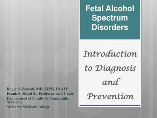 Introduction to Diagnosis and Prevention