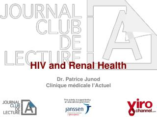 HIV and Renal Health
