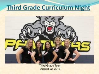 Third Grade Curriculum Night