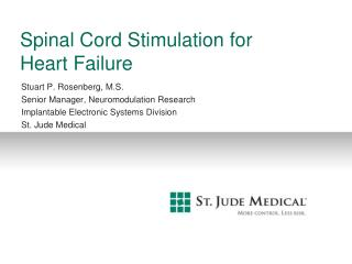 Spinal Cord Stimulation for  Heart Failure