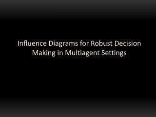 Influence Diagrams for Robust Decision Making in  Multiagent  Settings