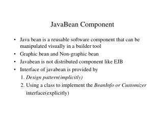 JavaBean Component