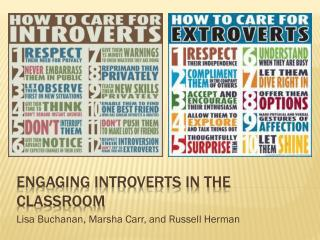 Engaging introverts in the classroom