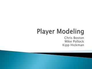Player Modeling