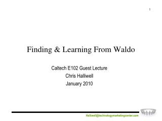 Finding & Learning From Waldo
