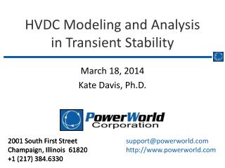 HVDC Modeling and Analysis in Transient Stability