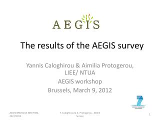 The results of the AEGIS survey