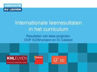 Internationale leerresultaten  in het curriculum
