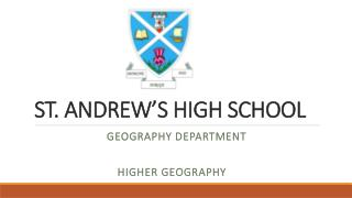 ST. ANDREW'S HIGH SCHOOL