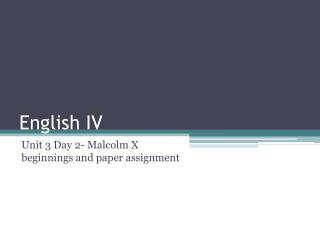 English IV