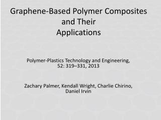 Graphene-Based Polymer Composites and Their Applications