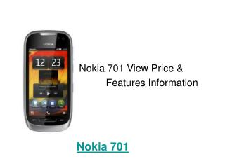 Nokia 701 Price and Specifications