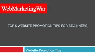 Top 5 Website Promotion Tips For Beginners