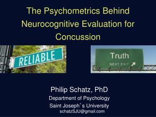 The Psychometrics Behind Neurocognitive Evaluation for Concussion