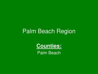 Palm Beach Region