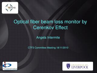 Optical fiber beam loss monitor by Cerenkov Effect