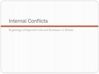 Internal Conflicts