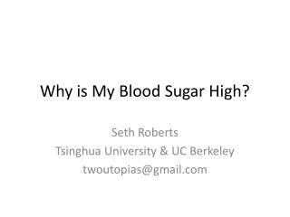 Why is My Blood Sugar High?