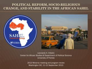 Political Reform, socio-religious change, and stability in the  african sahel