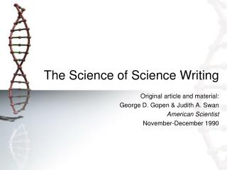 The Science of Science Writing