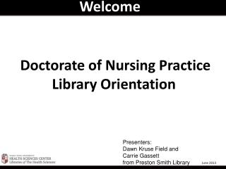 Doctorate of Nursing Practice   Library Orientation