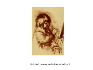 Red chalk drawing on buff paper by Renoir