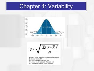 Chapter 4: Variability