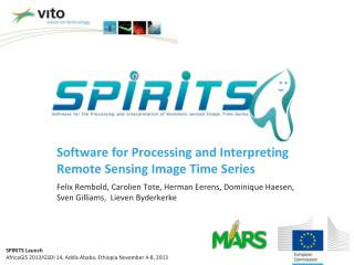 Software for Processing and Interpreting Remote Sensing Image Time Series