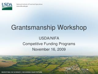 Grantsmanship Workshop