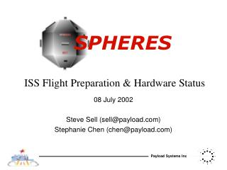 ISS Flight Preparation & Hardware Status