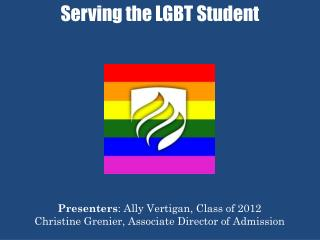 Serving the LGBT Student