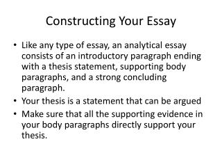 Constructing Your Essay