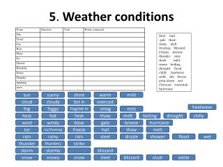 5 .  Weather conditions