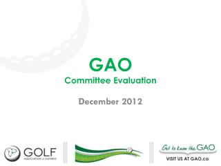 GAO Committee Evaluation