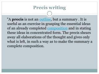 Preciswriting