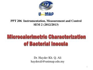 PPT 206  Instrumentation, Measurement and Control SEM 2  (2012/2013)