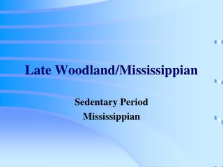 Late Woodland/Mississippian