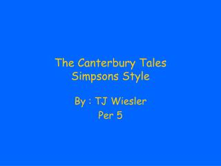 The Canterbury Tales Simpsons Style
