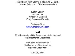 The Role of Joint Control in Teaching Complex