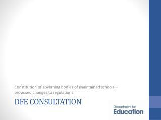 DFE Consultation