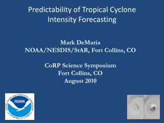 Predictability of Tropical Cyclone  Intensity Forecasting