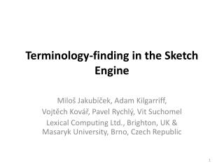 Terminology-finding in the Sketch Engine