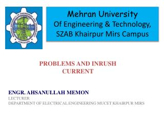 Mehran  University Of Engineering & Technology, SZAB  Khairpur Mirs  Campus